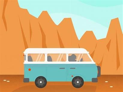 Road Hit Van Camper Dribbble Arizona Entirely