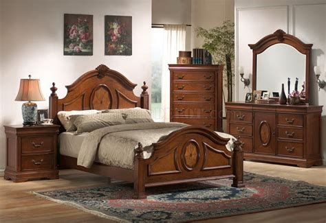 rich caramel finish classic bedroom set woptions