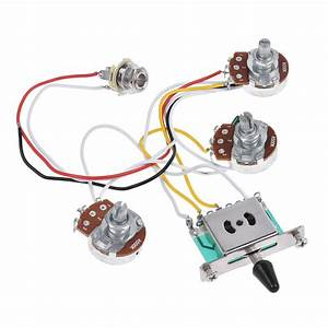 Guitar Wiring Harness Kit For Strat Parts 5 Way Toggle