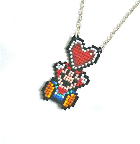 super mario  love necklace  bit retro gamer jewelry