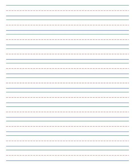 standard printable lined writing paper printableecom