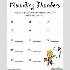 To The Ten Rounding Numbers  Worksheet Educationcom