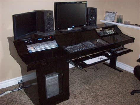 computer desk wood studio designs studio furniture workstations and mix positions