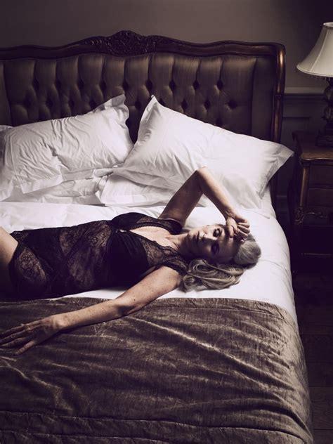 Nicola Griffin Wearing Lingerie In Slink Magazine