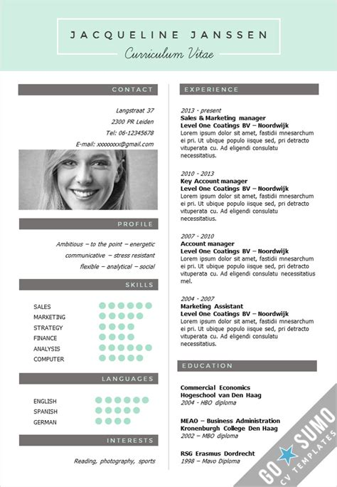 New Cv by Cv Template New York Go Sumo Cv Template