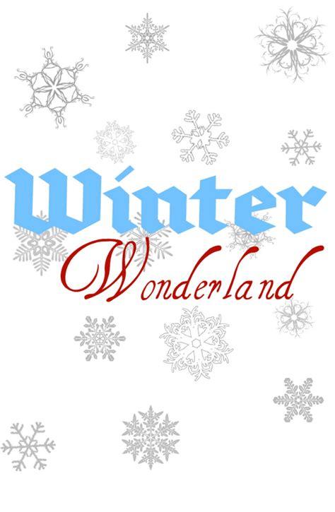 Winter Wonderland {printable}  Mine For The Making
