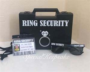 ring security black box briefcase sunglasses agent badge ring With ring security box for wedding