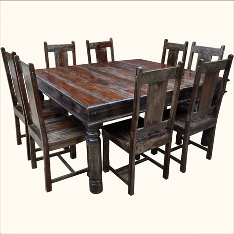 richmond rustic solid wood large square dining room table