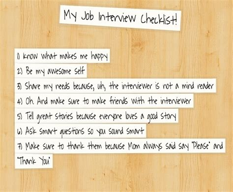 If You Job Interview Todaythe Ultimate 11step Checklist For Success! Milewalk