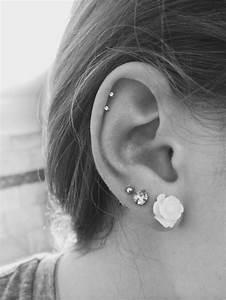 Best 25 Double Cartilage Piercing Ideas On Pinterest ...
