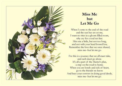 1000 images about on let me go miss you funeral poem quot miss me but let me go quot popular Fresh