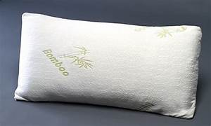 memory foam pillows with bamboo covers 1 or 2 pack With bamboo pillow in stores