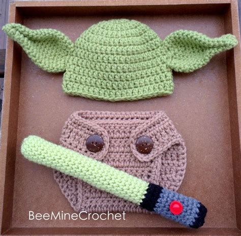 Free Crochet Diaper Cover Pattern 0 3 Months by Newborn Crochet Yoda Outfit Baby Pattern 0 3 Months