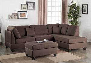 L Sofa : modern sectional sofa corner couch reversible chaise ottoman linen fabric coffee ebay ~ Buech-reservation.com Haus und Dekorationen