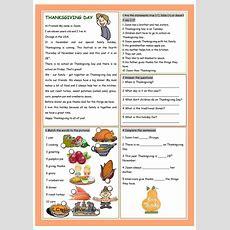 Thanksgiving Day  English  Thanksgiving Worksheets, Education English Et Learn English