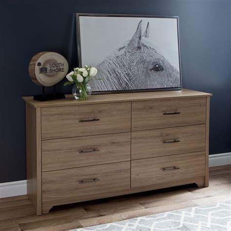 south shore fusion 6 drawer dresser south shore fusion 6 drawer wood dresser in rustic