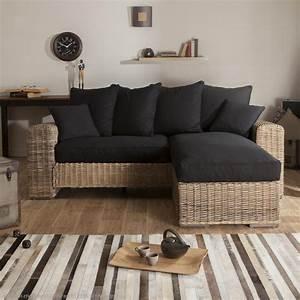 Canape en rotin pour veranda canape idees de for Deco cuisine pour salon en rotin