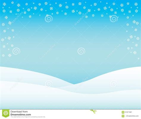 winter brochure background horizontal stock illustration