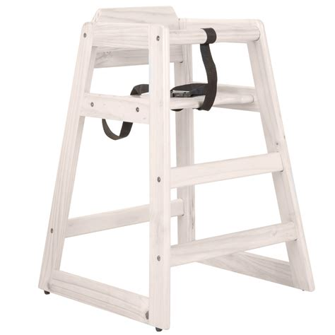 wooden high chair white 163 29 99 oypla