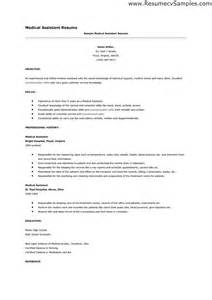 medical resume skills exles resume exles for medical assistant students augustais