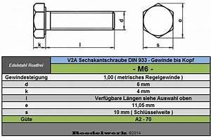 M6 Mutter Maße : rostfreie 6 mm m6 edelstahl v2a sechskant schrauben din 933 gewinde bis kopf ebay ~ Watch28wear.com Haus und Dekorationen