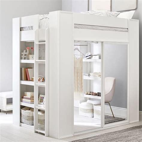 sleep style wardrobe loft bed pbteen