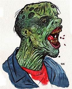 Strange Art of Scary Zombie Face