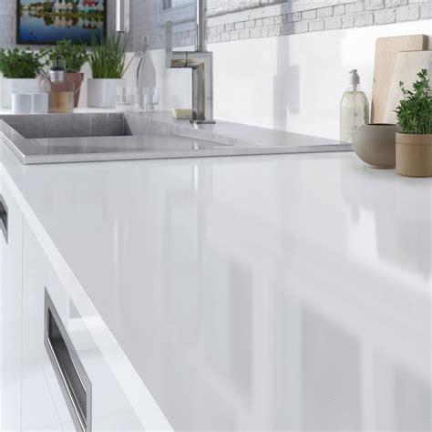 cuisine grise plan de travail blanc plan de travail stratifié blanc brillant l 315 x p 65 cm ep 16 mm leroy merlin