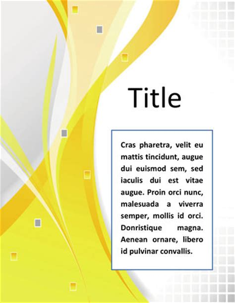 word documentation cover page template simple and