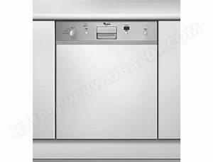 Porte Lave Vaisselle Encastrable : whirlpool adg688ix lave vaisselle integrable 60 cm ~ Dailycaller-alerts.com Idées de Décoration