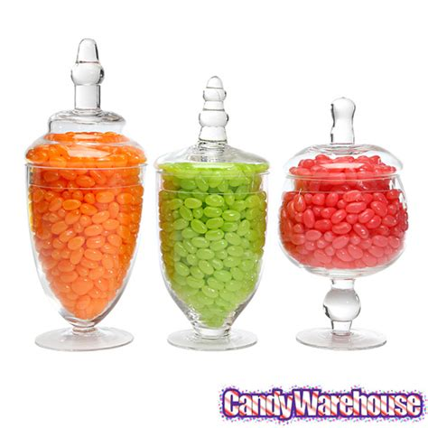 fashioned kitchen canisters glass jars with lids 6 inch 3 set