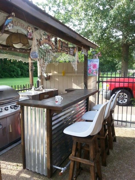 cottage style homes outdoor bar ideas design decoration