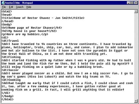 jan s html basics using fpx