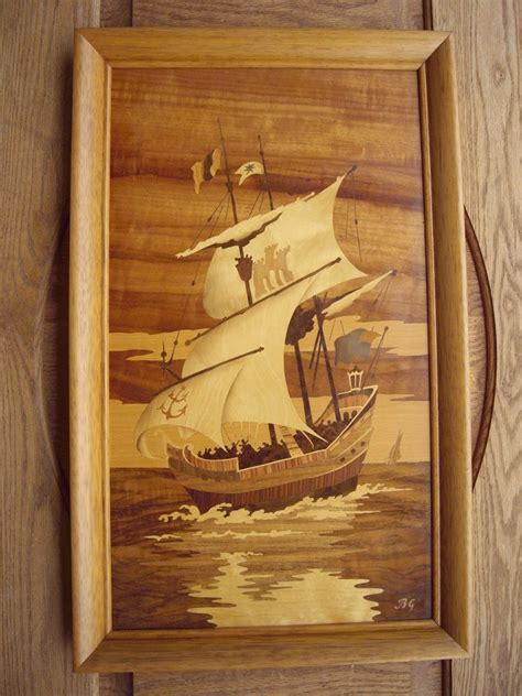 buchschmid  gretaux bg marquetry wood inlay framed