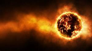 outer space, planets, fire, glow, fireball :: Wallpapers