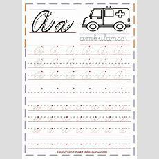 Printable Cursive Handwriting Practice Sheets Letter A  School Ideas  Cursive Handwriting