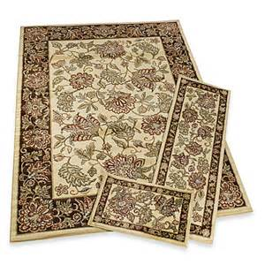 jacobean rug set of 3 bed bath beyond