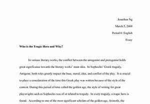 Antigone Tragic Hero Essay My Essay Com Essay Antigone Being Tragic  Antigone Tragic Hero Essay Conclusion Summary Company Report Template also Examples Of English Essays  Essays On Health