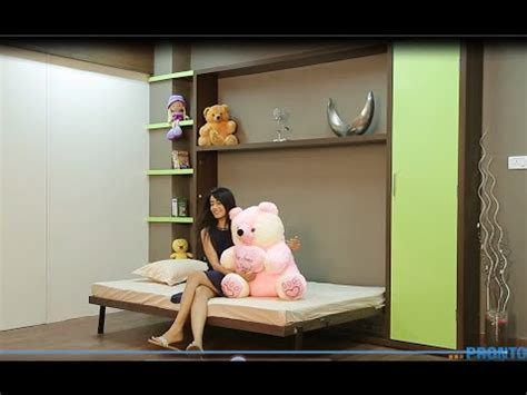 amazing space saving furniture india  modern small apartment wall bed folding youtube