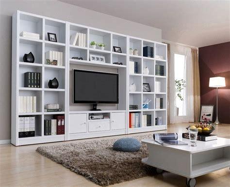 wall unit tv bookcase modern white wood veneer tv wall unit bookcase shelf
