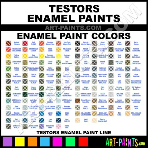 testors enamel spray paint color chart home design