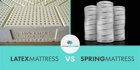 latex mattress  spring mattress memory foam talk