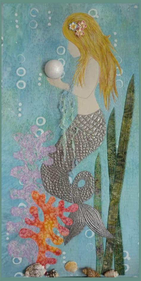 mermaid quilt idea fiber art quilts beach quilt