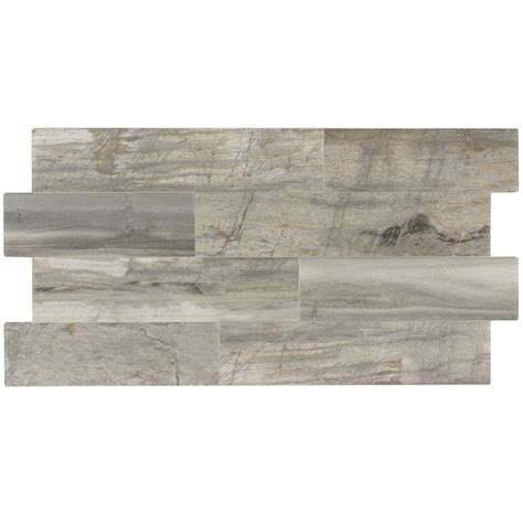 linear porcelain tile shop elida ceramica ledgewood stone linear porcelain wall tile common 12 in x 24 in actual