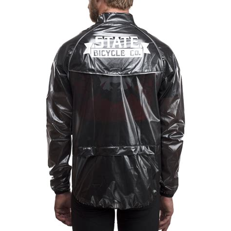 bicycle rain jacket state bicycle co men 39 s rain barrier cycling jacket ebay