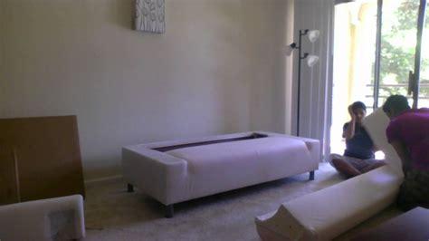 Assembling Klippan Storlien Black/white Sofa (me And Priti