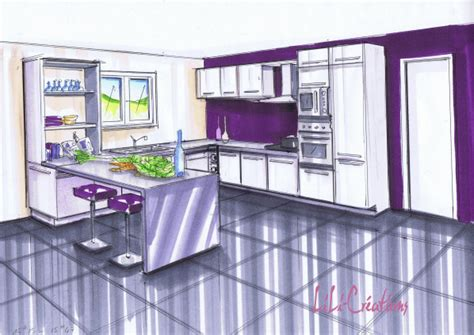 cuisine prune kitchen lelab legrand wall plum wood facade clear