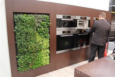 Vertical Herb Garden In Your Kitchen by Miele Brings A Green Walled Kitchen And Herb