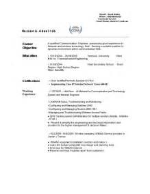 sle resume format for telecom engineers telecom engineer cv