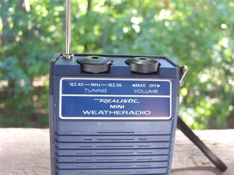weather radio realistic thrifted goodwill outlet